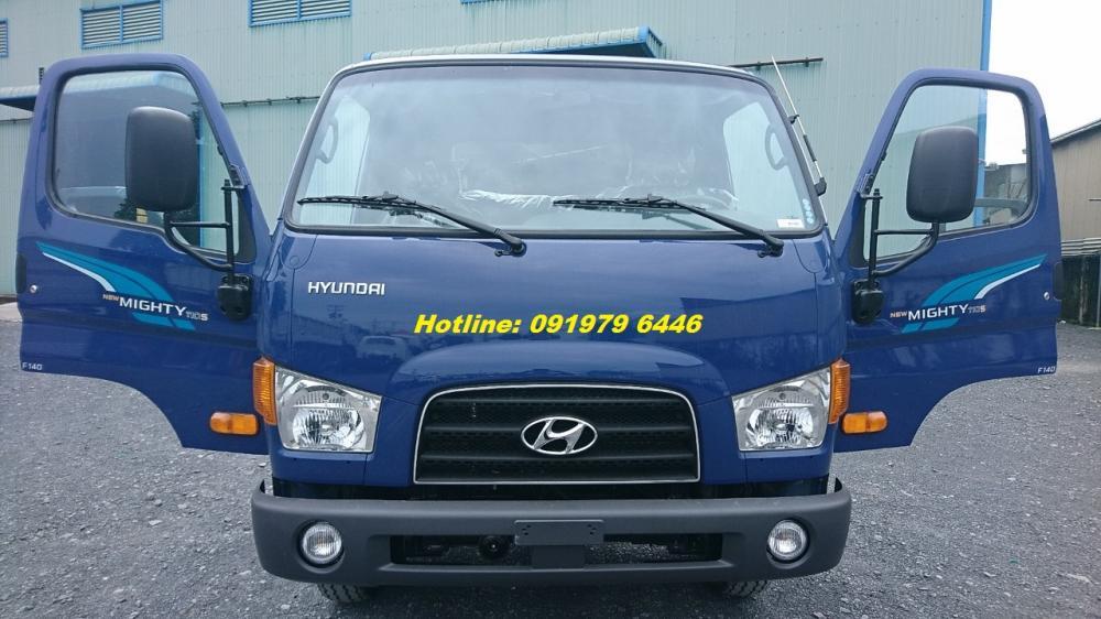 Bán ô tô Hyundai thùng bạt-7T 2018, màu xanh lam