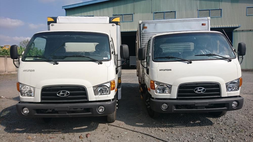 Cần bán Hyundai 110S-6T9 thùng kín năm 2018, màu trắng, giá 679tr