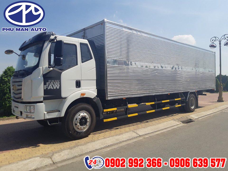 Gía xe tải FAW thùng dài 7T25 thùng mui bạt, thùng 10 mét