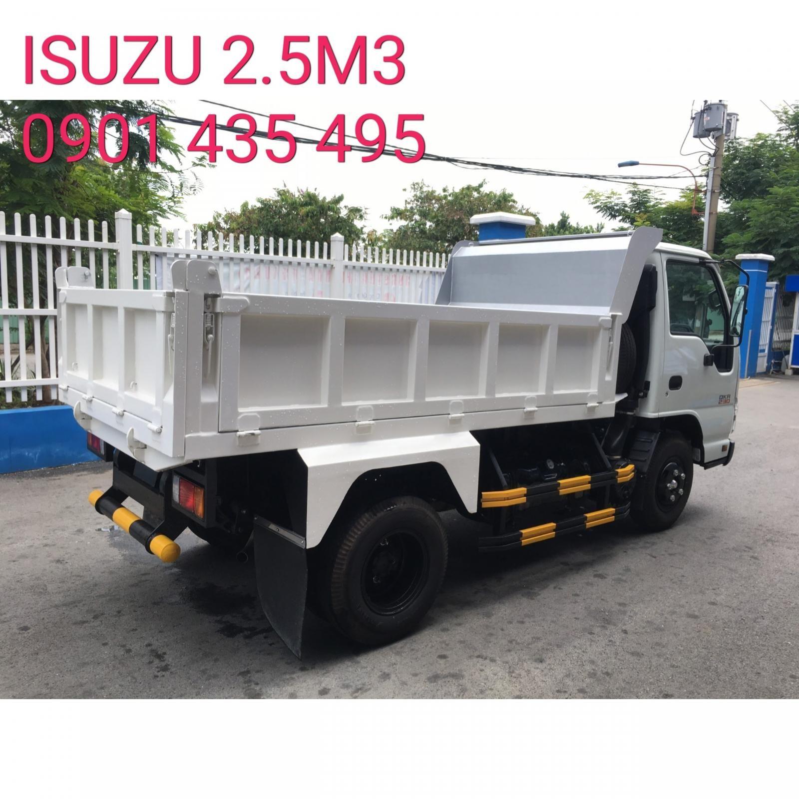 Isuzu thùng ben 2.5M3 KM, 12 phiếu bảo dưỡng, radio MP3