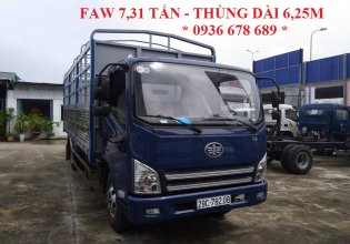 Bán xe tải thùng mui bạt Faw 7.31 tấn, cabin Isuzu, thùng dài 6.25m giá 415 triệu tại Hà Nội