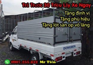 Xe tải dongben 1 tấn 25, đời 2018 euro4 giá 190 triệu tại Bình Dương