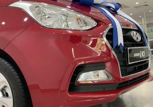 Hyundai Grand i10 sedan MT đỏ nhận xe ngay chỉ với 130tr, hỗ trợ đăng ký Grab, tặng bộ PK cao cấp, hỗ trợ vay trả góp giá 380 triệu tại Tp.HCM