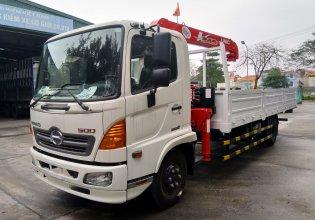 Cần bán xe tải cẩu Hino FC 9JLTC 2019, màu trắng giá 1 tỷ 460 tr tại Hà Nội
