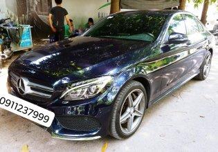 Cần bán xe Mercedes C300 AMG ĐK 2017, màu xanh Cavansite cực hot giá 1 tỷ 520 tr tại Hà Nội