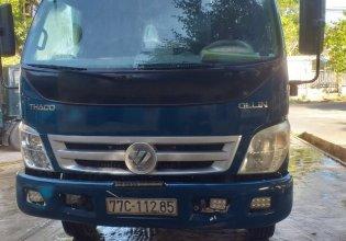 Cần bán xe tải Thaco Ollin 700B cũ màu xanh khung mui phủ bạt giá 285 triệu tại Hải Dương