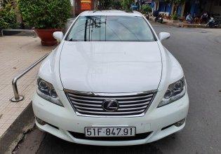 Bán xe Lexus LS 460L sản xuất 2010, model 2011, màu trắng, nội thất kem giá 1 tỷ 830 tr tại Tp.HCM