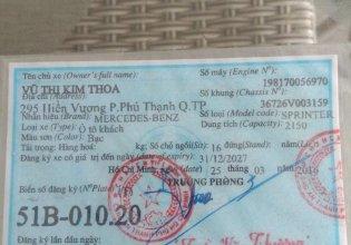 Bán Mercedes Sprinter CD 311 SX 2007 giá 265 triệu tại Tp.HCM