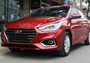 Bán xe Hyundai Accent 1.4AT bản tiêu chuẩn, đời 2019, màu đỏ, số tự động giá 501 triệu tại Đà Nẵng