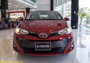 Bán Toyota Vios 1.5 E CVT đời 2019, màu đỏ, giảm giá trực tiếp tiền mặt + hỗ trợ trả góp 85% giá 523 triệu tại Thanh Hóa