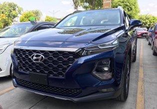 Cần bán xe Hyundai Santa Fe 2.4 máy xăng bản cao cấp , đời 2019, màu xanh lam, hỗ trợ trả góp 85% + chỉ trả trước 350 triệu giá 1 tỷ 185 tr tại Tp.HCM