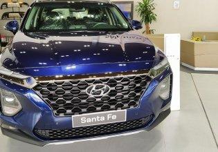 Cần bán Hyundai Santa Fe đời 2019, màu xanh lam giá 1 tỷ 105 tr tại Tp.HCM