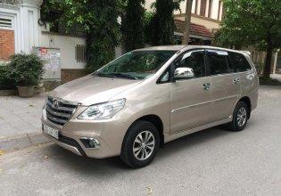 Chính chủ cần bán Toyota Innova đời 2014, màu vàng cát, số sàn giá 385 triệu tại Hà Nội