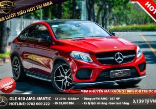 Cần bán lại chiếc Mercedes-Benz GLE 450 4Matic, sản xuất 2016, màu đỏ, xe nhập giá 3 tỷ 139 tr tại Tp.HCM