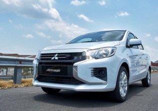 Bán Mitsubishi Attrage năm 2020, màu trắng, nhập khẩu   giá 375 triệu tại Khánh Hòa