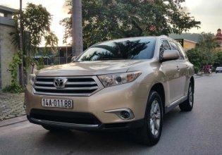 Cần bán gấp Toyota Highlander đời 2010, màu vàng, nhập khẩu nguyên chiếc giá cạnh tranh giá 838 triệu tại Quảng Ninh